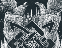 Logo vikings pagan tattoo black metal art